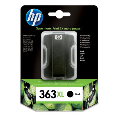 Cartucho HP 363XL Negro