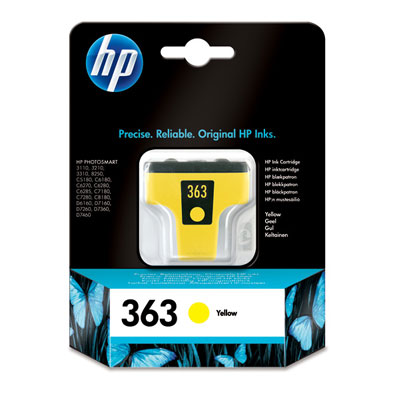 Cartucho HP 363 Amarillo