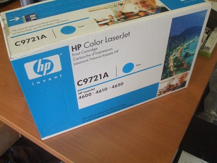 Toner Original HP C9721A Cian 8000 copias