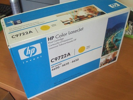 Toner Original HP C9721A Amarillo 8000 copias